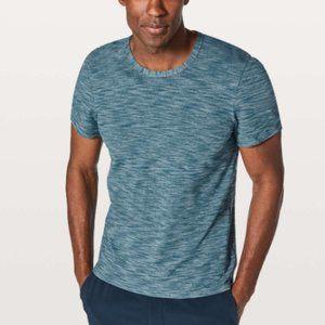 Lululemon Pulse Slub Blue Short Sleeve TShirt